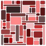 квадраты предпосылки красные Стоковое Изображение