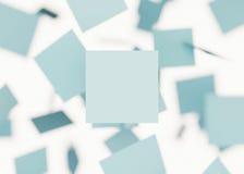 Квадраты предпосылки перевод 3d Стоковые Изображения RF