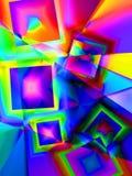 Квадраты 3 цвета Стоковое Фото