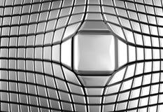 квадрат алюминиевой предпосылки роскошный серебряный Стоковые Фотографии RF