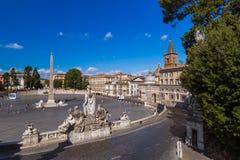 Квадрат Аркада del Popolo в Риме Италии стоковые фотографии rf