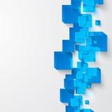 Квадрат вектора. Абстрактная синь карточки предпосылки. Стоковое Изображение RF
