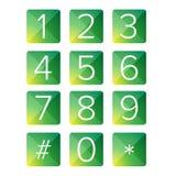 Квадрат вектора номера установленный Стоковые Изображения