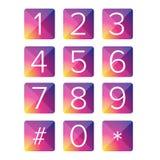 Квадрат вектора номера установленный Стоковые Фото