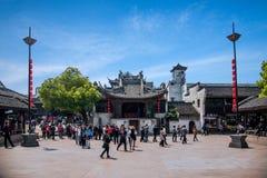 Квадрат взгляда Xiuzhen строба Чжэцзяна Jiaxing Wuzhen восточный Стоковые Изображения RF