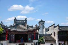 Квадрат взгляда Xiuzhen строба Чжэцзяна Jiaxing Wuzhen восточный Стоковые Фотографии RF