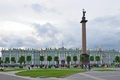 Квадрат дворца, временная естественная трава и деревья в реальном маштабе времени Стоковые Изображения