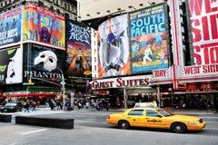 Квадрат времени в Манхаттане Нью-Йорке стоковые фото