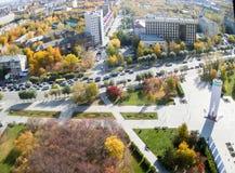 Квадрат Второй Мировой Войны мемориальный Tyumen Россия Стоковое Изображение