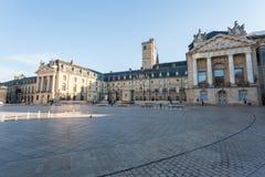 Квадрат высвобождения и дворец герцогов бургундского Стоковое фото RF