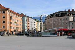 Квадрат в Инсбруке, Австрии Стоковые Фото