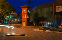 Квадрат в Малакке на ноче Стоковые Фотографии RF