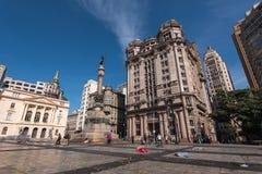 Квадрат в Сан-Паулу стоковая фотография