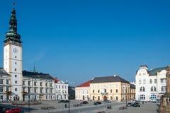 Квадрат в Litovel, чехии стоковое фото rf