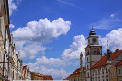 Квадрат в TÅ™eboň, чехии Стоковая Фотография