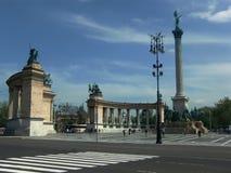 квадрат героев budapest Стоковое фото RF