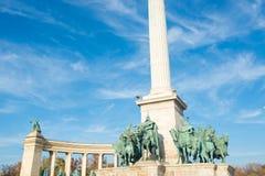 квадрат героев budapest Стоковые Фотографии RF