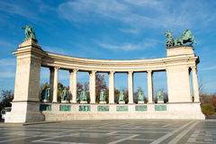 квадрат героев budapest Стоковая Фотография