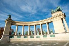 квадрат героев budapest Стоковое Изображение RF
