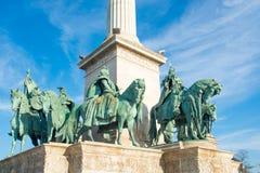 квадрат героев budapest Стоковая Фотография RF