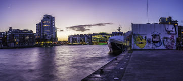 Квадрат грандиозного канала, Дублин Стоковое фото RF