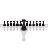 Квадрат группы шаг вперед руководителя концепции дела малый черный Стоковая Фотография