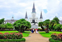Квадрат Джексона в Новом Орлеане, ЛА Стоковые Фото