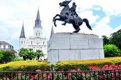 Квадрат Джексона в Новом Орлеане, ЛА Стоковые Фотографии RF