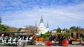 Квадрат Джексона в Новом Орлеане, ЛА Стоковое фото RF