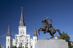 Квадрат Джексона в Новом Орлеане Стоковые Изображения RF