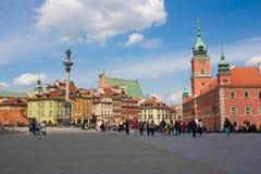 Квадрат замка Варшава, Польша - 16 04 2016 Стоковая Фотография RF