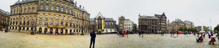 Квадрат запруды Амстердама Стоковое Изображение