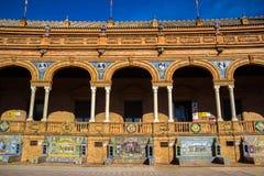 Квадрат Испании в Севилье, Испании Стоковая Фотография