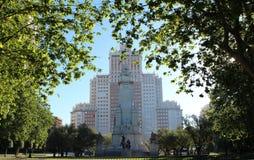 Квадрат Испании - Мадрид Стоковое Фото