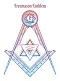 Квадрат и компас Freemason иллюстрация вектора