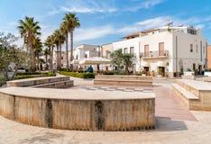 Квадрат каподастра San Vito Lo, большинств известные touristic назначения Marinella Сицилии стоковая фотография rf