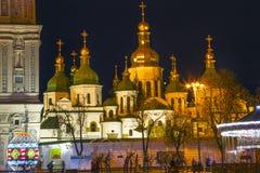 Квадрат Киев Украина Sofiyskaya собора Sophia Софии Святого Стоковая Фотография RF