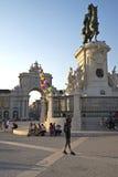 Квадрат коммерции (Praca делает Comercio) в Лиссабоне Стоковое Изображение
