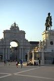 Квадрат коммерции (Praca делает Comercio) в Лиссабоне Стоковое фото RF