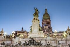 Квадрат конгресса в Буэносе-Айрес, Аргентине стоковая фотография