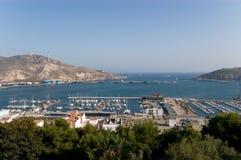 Квадрат короля Cartagena Испании порта стоковые изображения rf