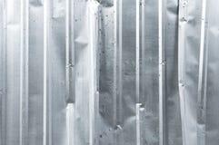 Квадрат металла предпосылки крупного плана старого вертикального цинка текстуры алюминиевый Стоковое фото RF