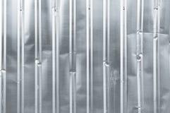 Квадрат металла предпосылки крупного плана старого вертикального цинка текстуры алюминиевый Стоковые Фото