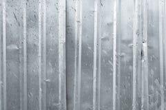 Квадрат металла предпосылки крупного плана старого вертикального цинка текстуры алюминиевый Стоковые Изображения