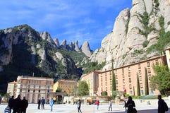 Квадрат монастыря Монтсеррата, Испания Стоковые Изображения