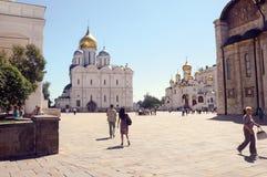 Квадрат Москвы Кремля Sobornaya стоковое изображение rf