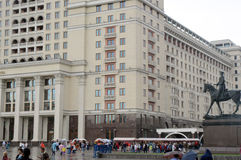 Квадрат Москвы Manege гостиницы стоковая фотография