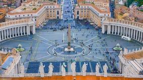 Квадрат на государстве Ватикан в Риме - вид с воздуха St Peters стоковое изображение