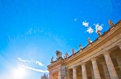 Квадрат на заходе солнца, государство Ватикан St Peter Стоковая Фотография RF
