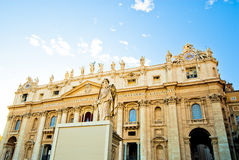 Квадрат на заходе солнца, государство Ватикан St Peter Стоковые Фотографии RF
